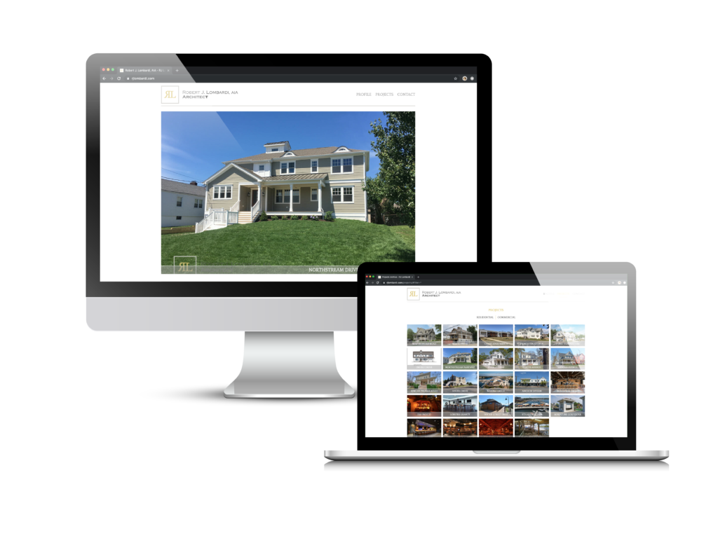 Architecture Website Case Study of Robert Lombardi's custom website