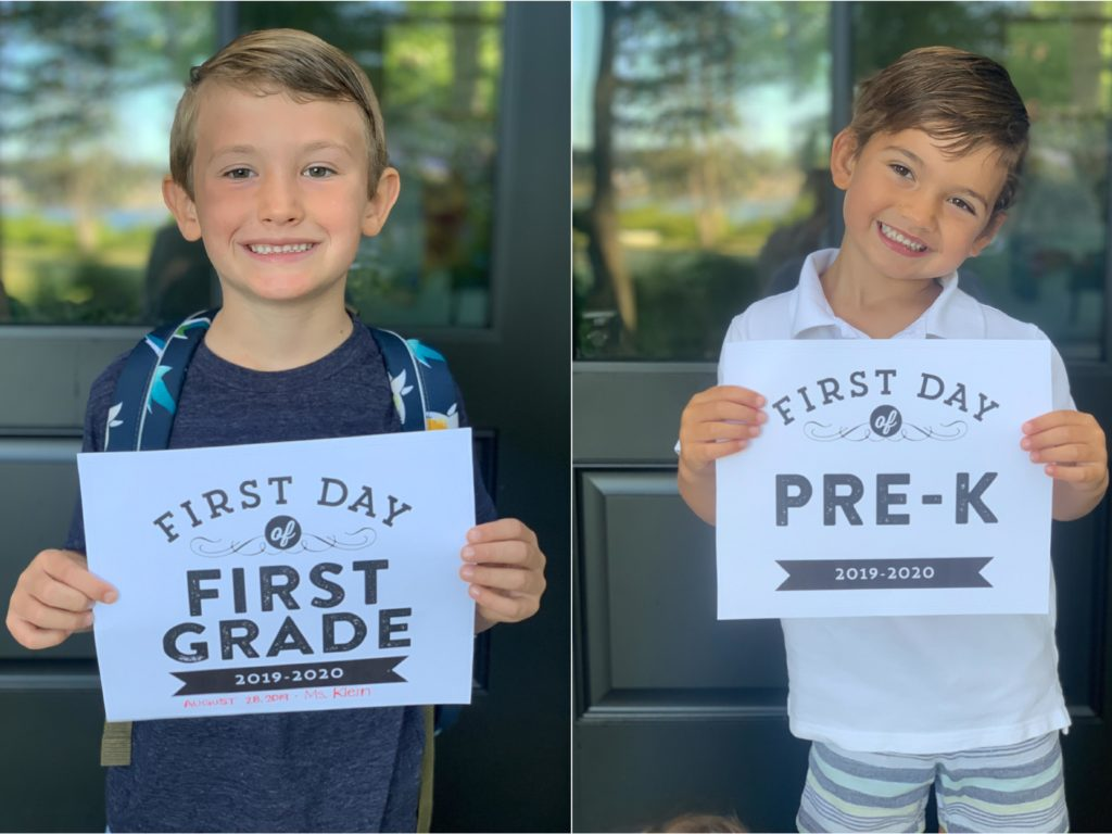 My little guys on their first day of school!